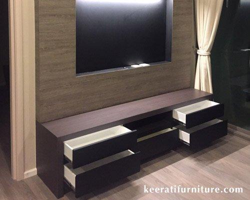 รับผลิตโต๊ะเก้าอี้ไม้ และตู้ทีวีบิ้วอินท์